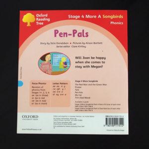 pen-pals、裏表紙