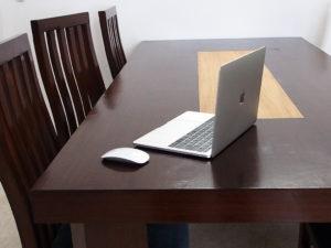 テーブルにmac
