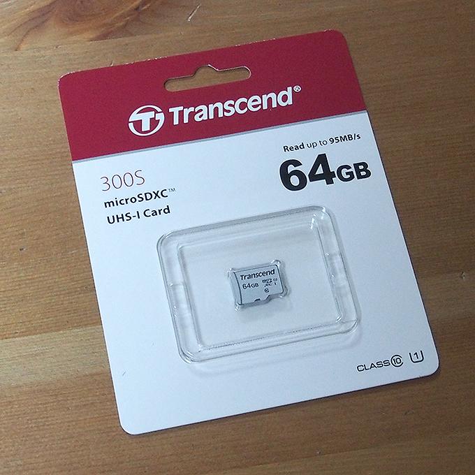 トランセンド、マイクロSDカード、64GB