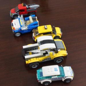 レゴ、5台の車